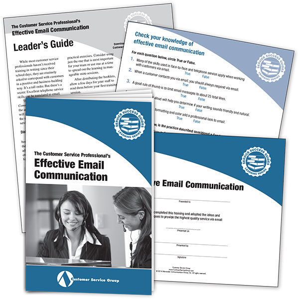 Effective Email Communication. IIncludes booklets, leader's guide, quiz, certificate of participation.