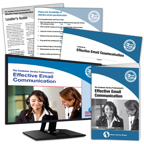 Effective Email Communication training package includes student's guides, leader's guide, quizzes, and certificates of participation.